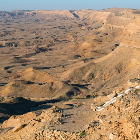 large crater in the Negev desert, Israel