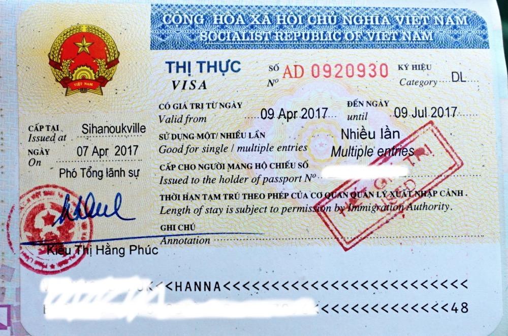 wiza do wietnamu cena