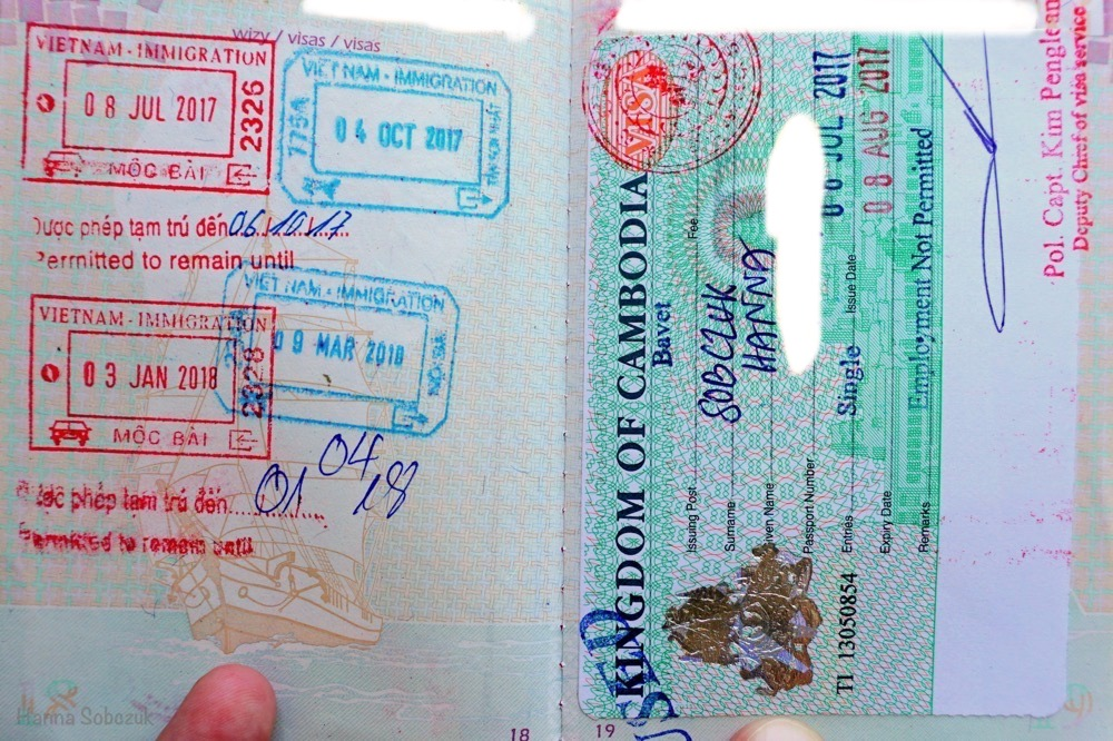 przejście graniczne wietnam kambodża
